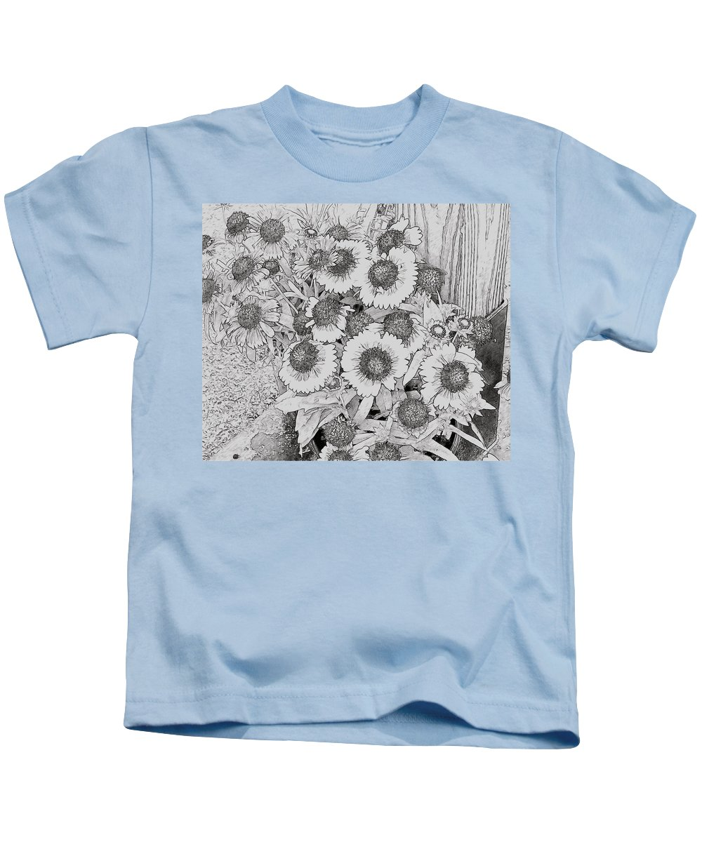 Black Eyed Susans Kids T-Shirt featuring the photograph Black Eyed Susans by Alice Gipson