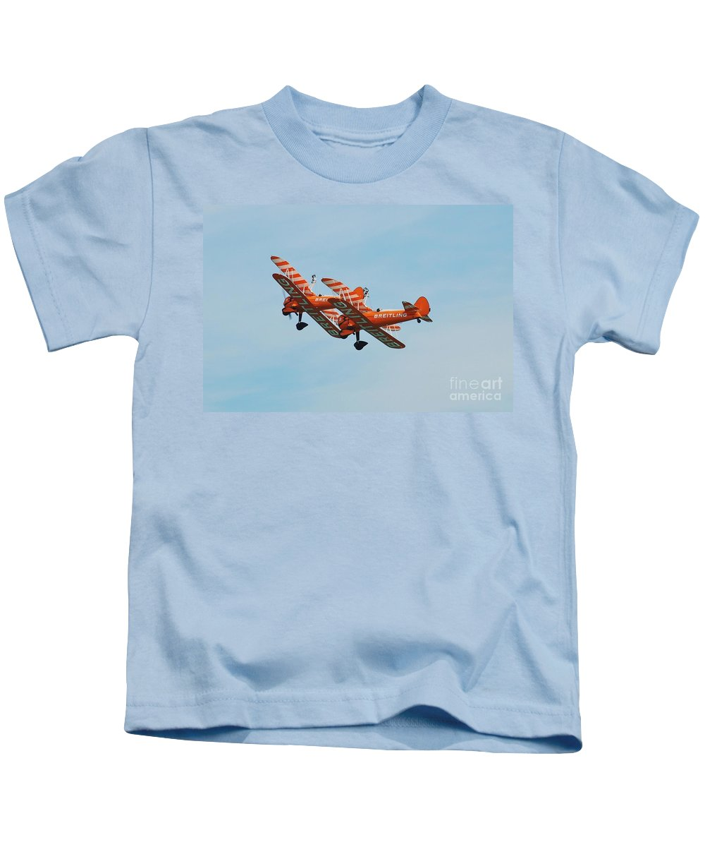 Brietling Kids T-Shirt featuring the photograph Breitling Wingwalkers Team by David Fowler
