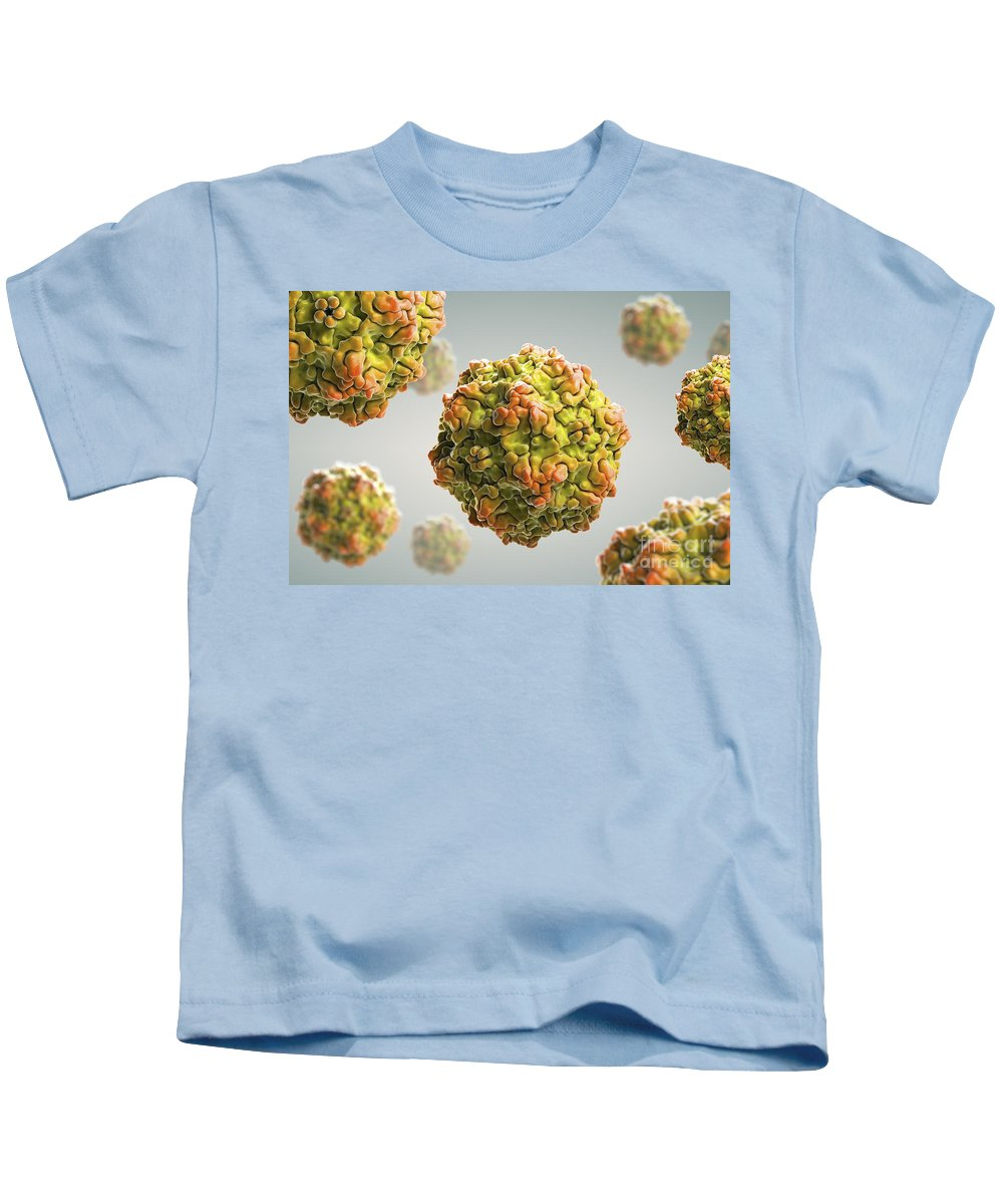 Pathogenic Kids T-Shirt featuring the photograph Canine Parvovirus by Science Picture Co