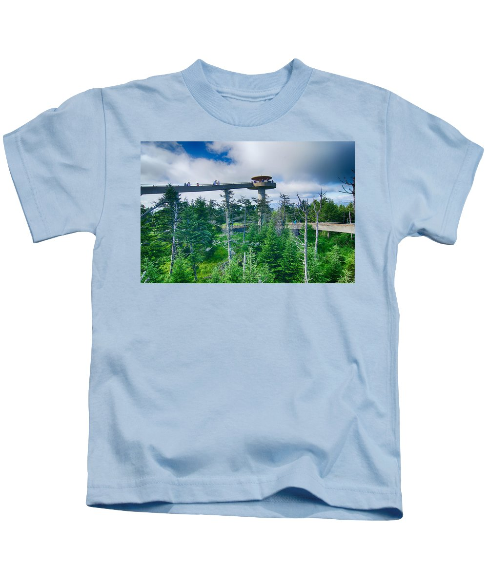 Clingman's Dome Kids T-Shirt featuring the photograph Clingmans Dome - Great Smoky Mountains National Park by Alex Grichenko