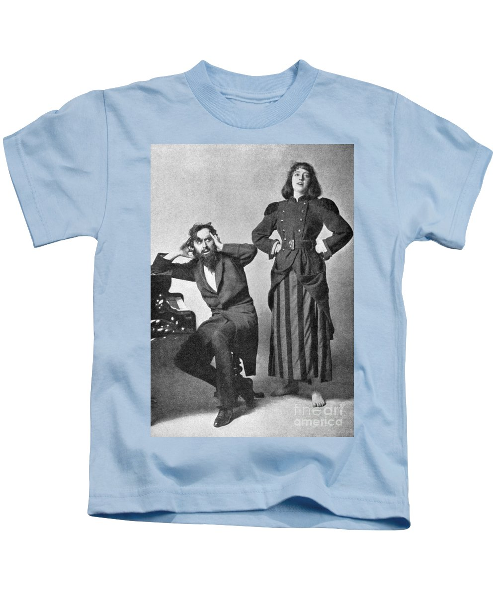 1895 Kids T-Shirt featuring the photograph Du Maurier: Trilby, 1895 by Granger