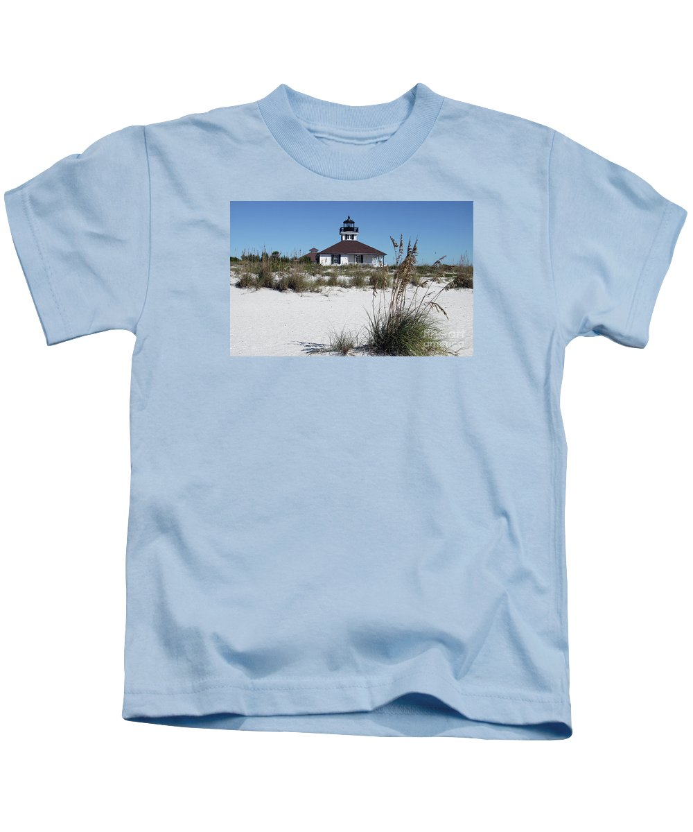 Port Boca Grande Lighthouse Kids T-Shirt featuring the photograph Port Boca Grande Lighthouse by Christiane Schulze Art And Photography