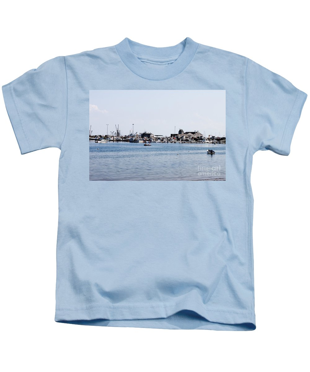 Beach Kids T-Shirt featuring the photograph Provincetown Harbor by Thomas Marchessault