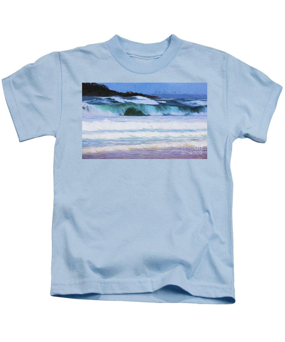 Surf Kids T-Shirt featuring the photograph Surfs up by Sheila Smart Fine Art Photography