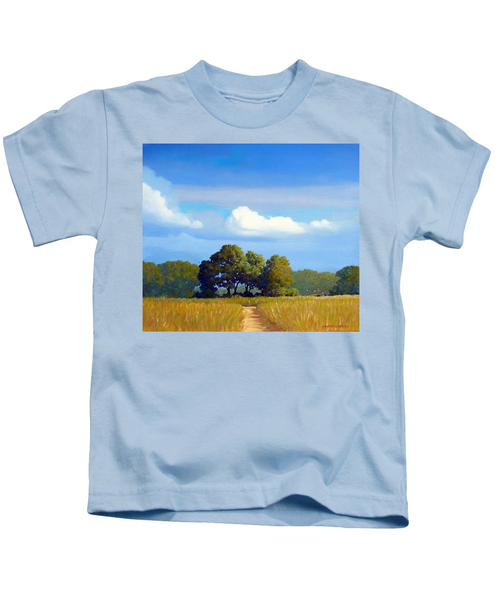 Landscape Kids T-Shirt featuring the painting The Path by Kevin Lawrence Leveque