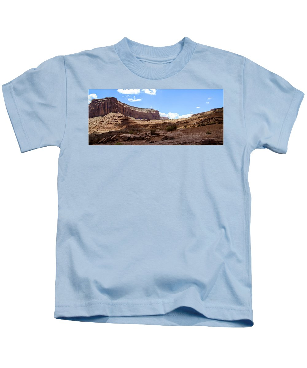 Landscape Kids T-Shirt featuring the photograph The View Hotel - Monument Valley - Arizona by Jon Berghoff