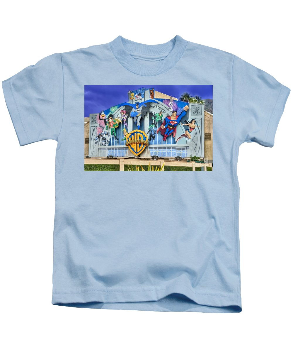 Warner Bros. Kids T-Shirt featuring the photograph Warner Bros. Entertainment Inc. by David Zanzinger