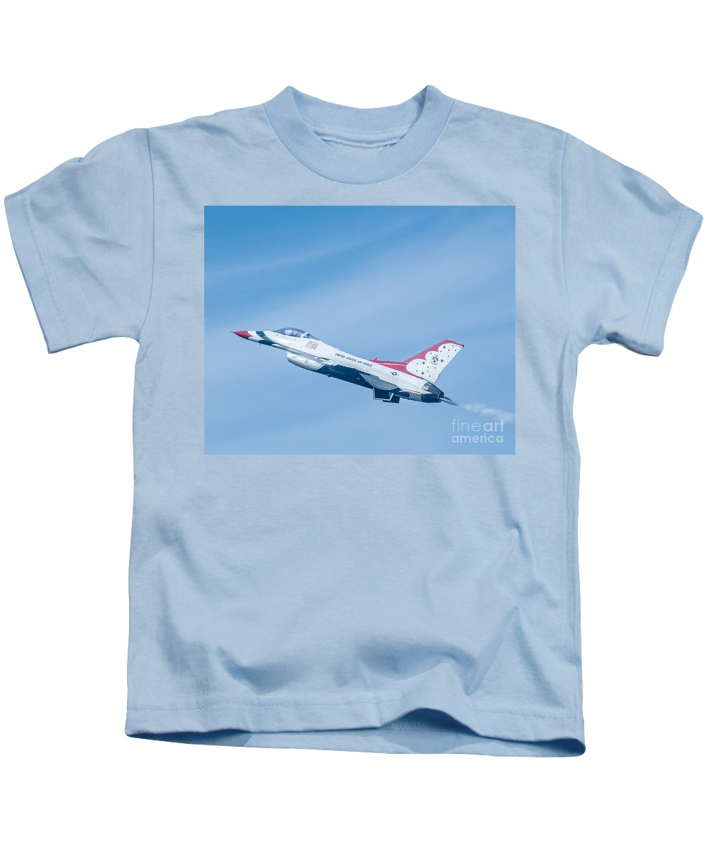 Navy Kids T-Shirt featuring the photograph Thunderbird by Amel Dizdarevic
