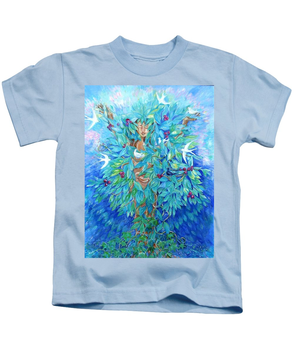 Tree Kids T-Shirt featuring the painting Tree Of Life by Trudi Doyle