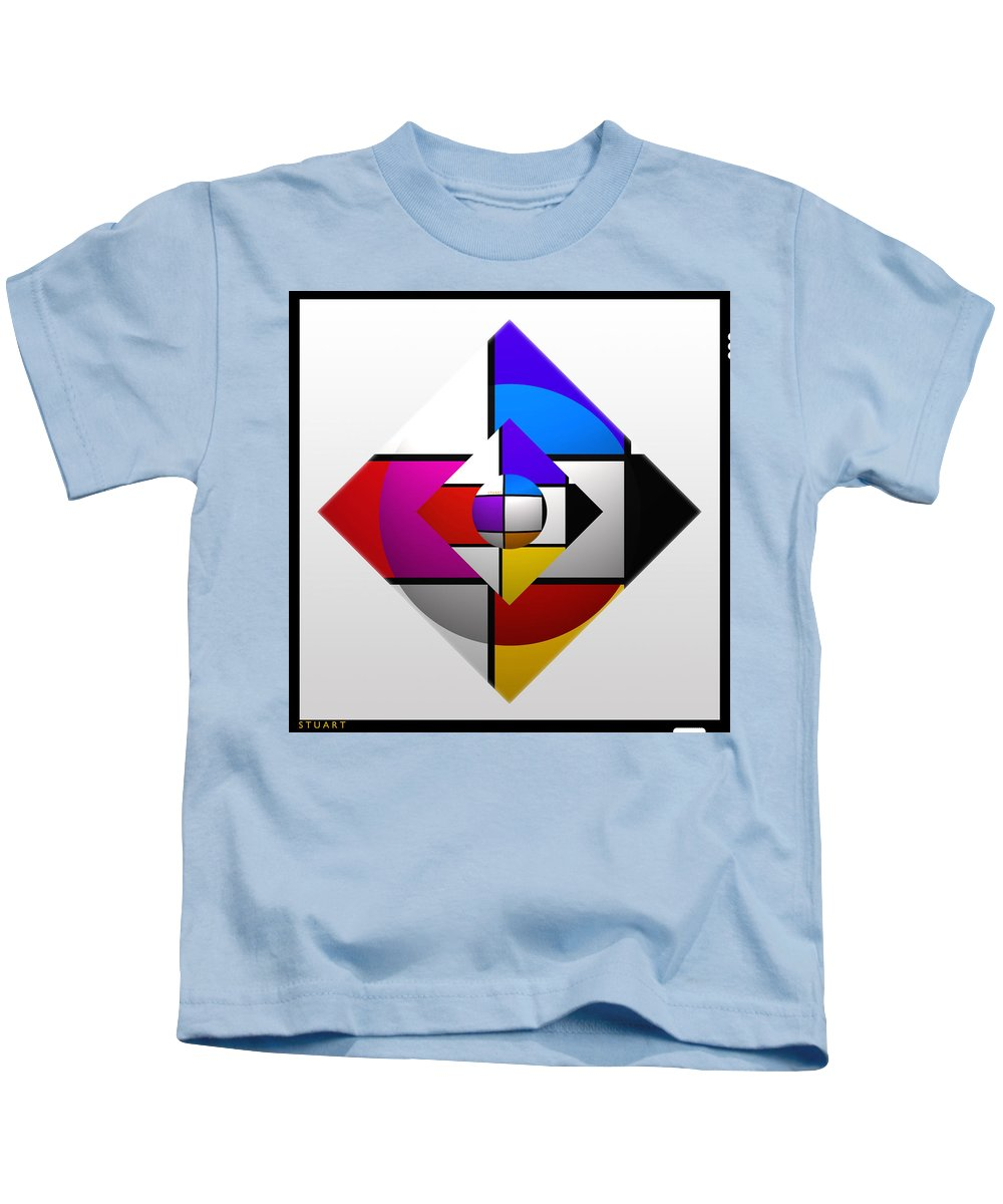 Universe Kids T-Shirt featuring the painting Universe by Charles Stuart