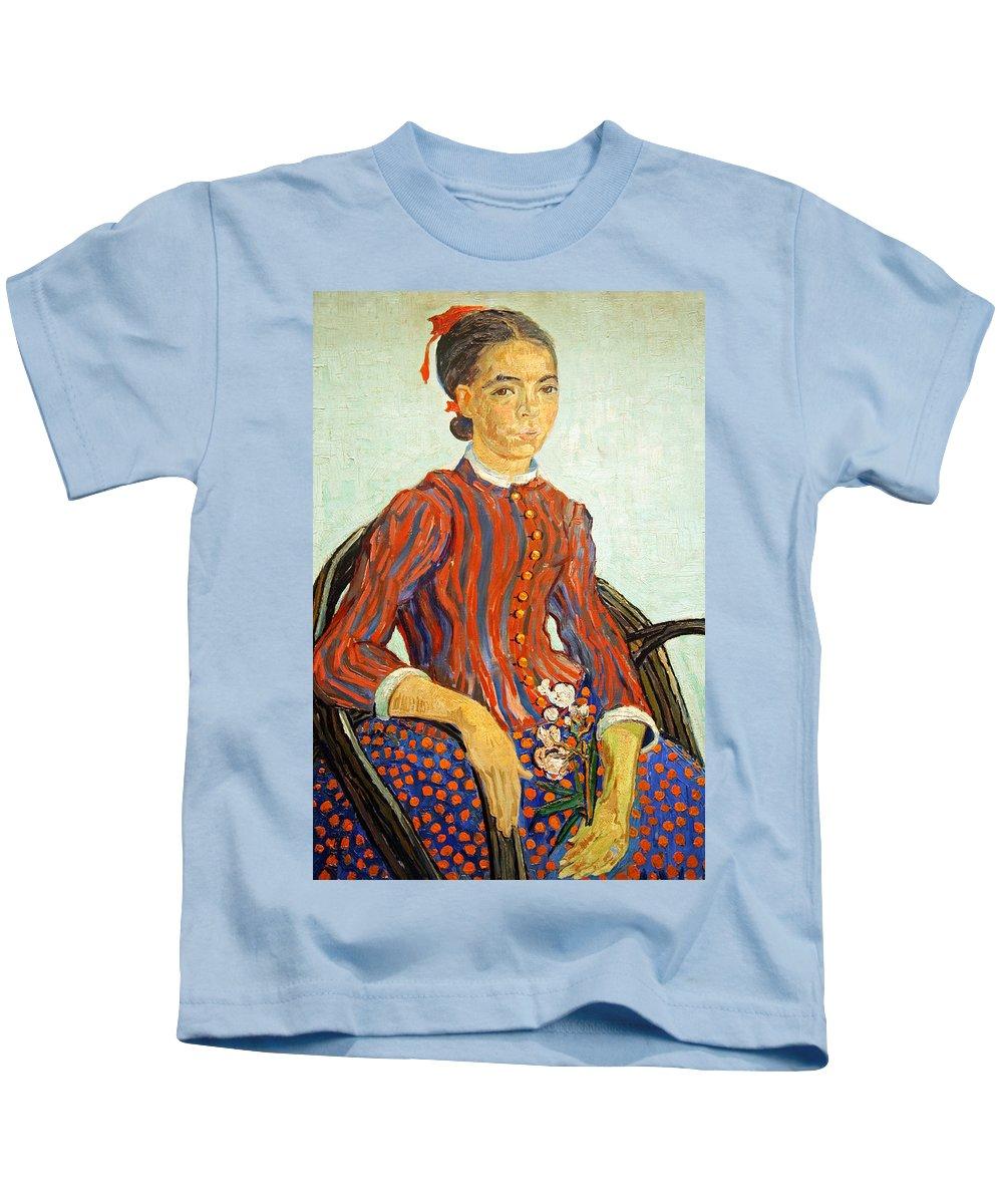 La Kids T-Shirt featuring the photograph Van Gogh's La Mousme by Cora Wandel