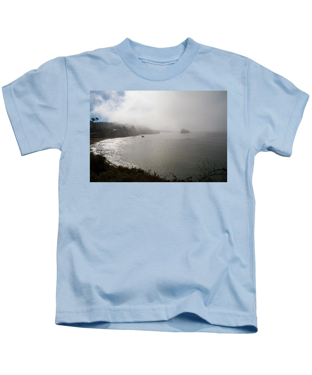 Ocean Rocks Kids T-Shirt featuring the photograph West Coast And Beach by Brian Williamson
