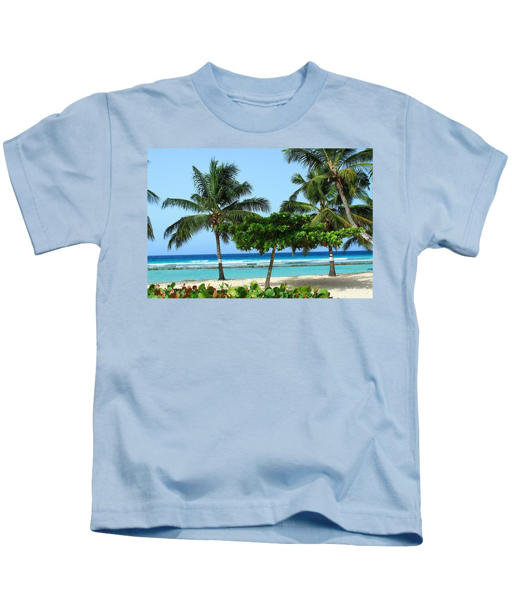 Barbados Kids T-Shirt featuring the photograph Beach Paradise by Catie Canetti