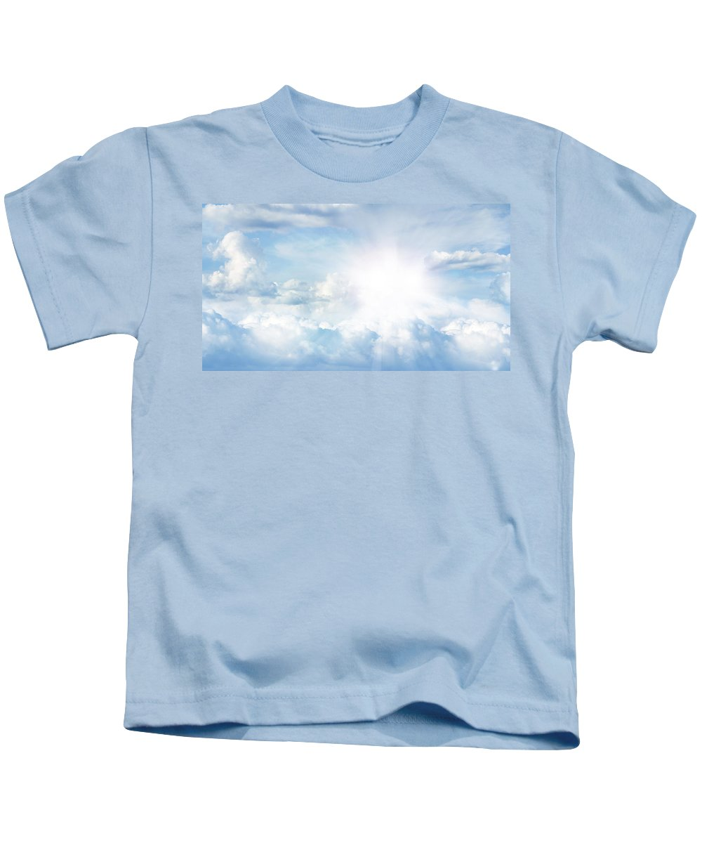 Background Kids T-Shirt featuring the photograph Bright Sky by Les Cunliffe