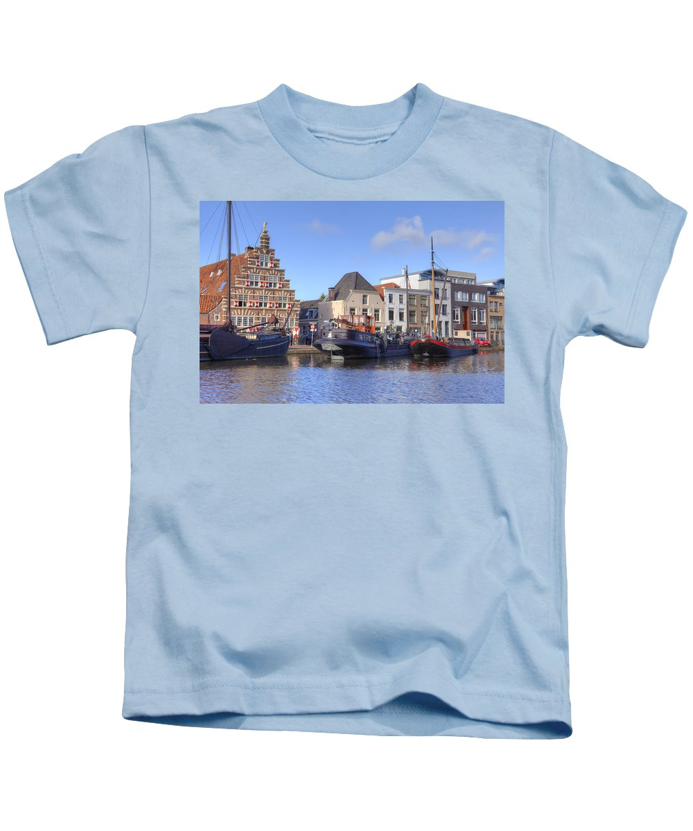 Leiden Kids T-Shirt featuring the photograph Leiden by Joana Kruse