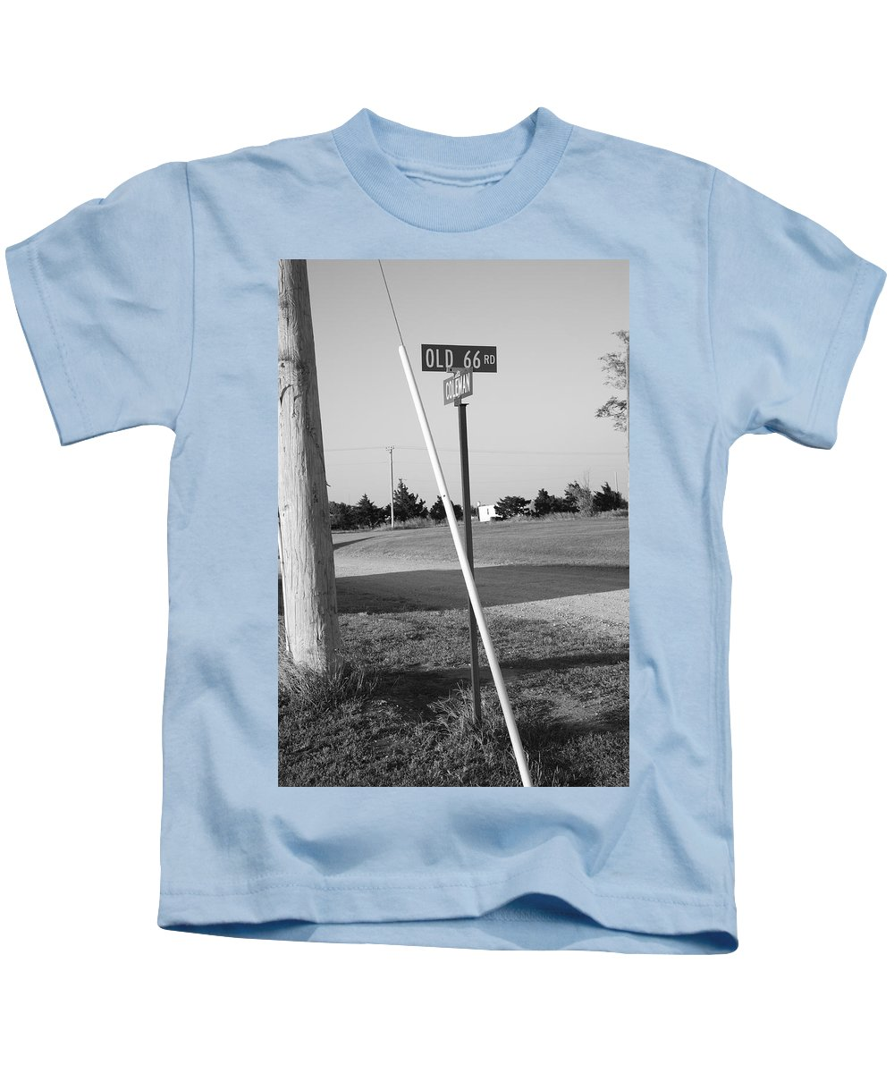 66 Kids T-Shirt featuring the photograph Route 66 - Oklahoma by Frank Romeo