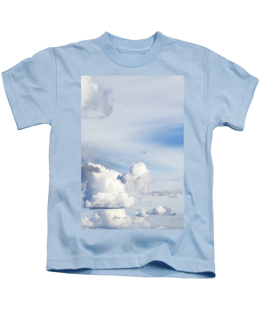 Air Kids T-Shirt featuring the photograph Clouds by Les Cunliffe