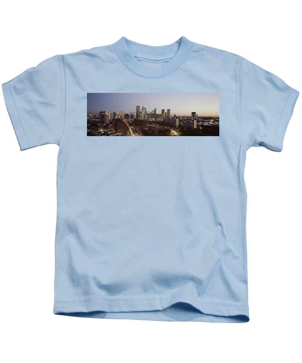 Photography Kids T-Shirt featuring the photograph High Angle View Of A City by Panoramic Images