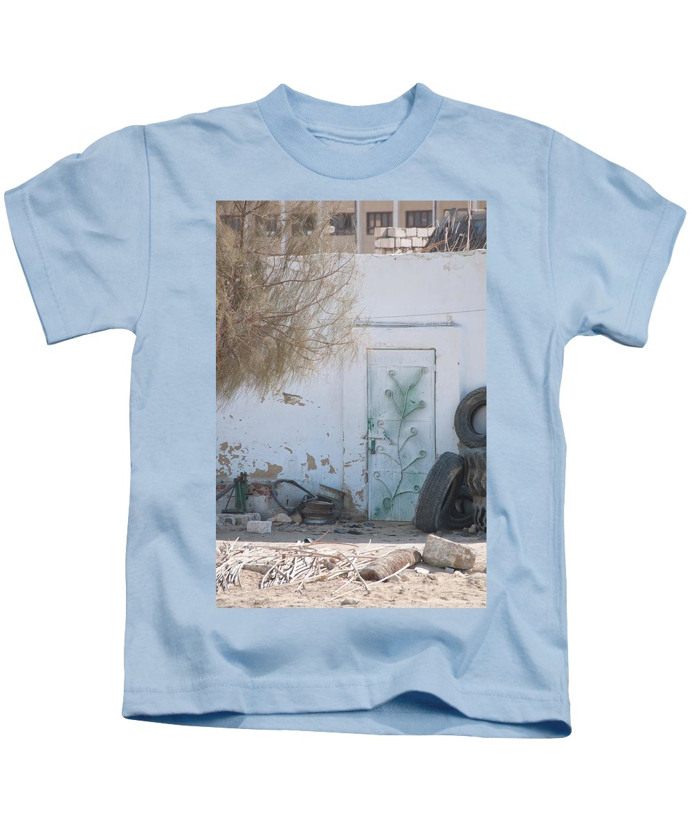 El Farafar Oasis Kids T-Shirt featuring the digital art El Farafar Oasis by Carol Ailles