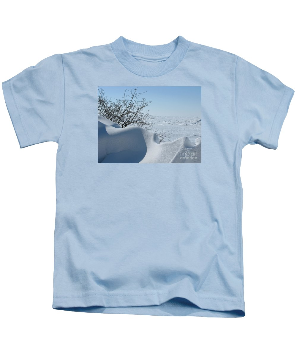 Winter Kids T-Shirt featuring the photograph A Gentle Beauty by Ann Horn