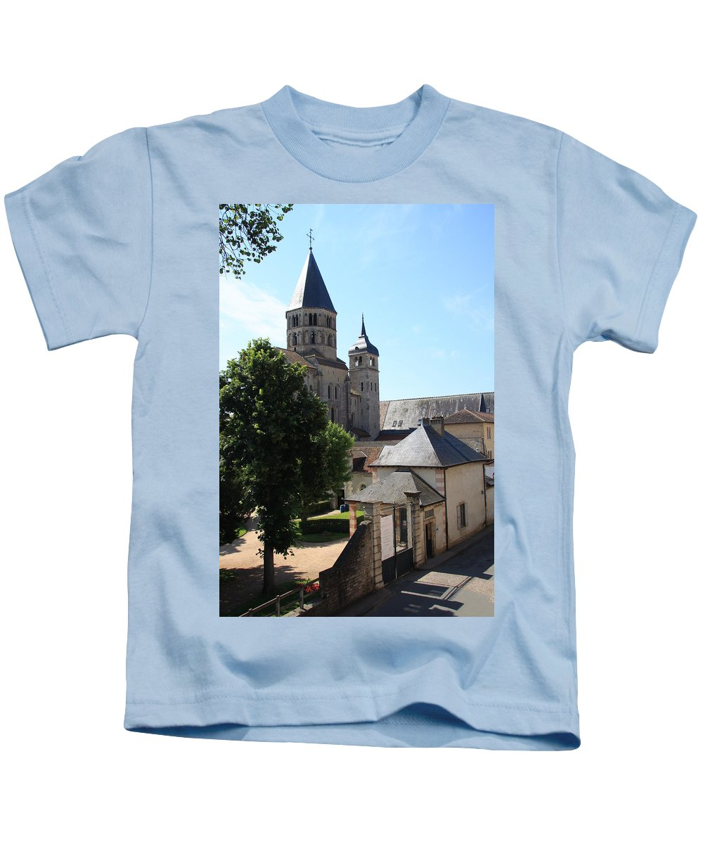 Minster Kids T-Shirt featuring the photograph Abbey Cluny by Christiane Schulze Art And Photography