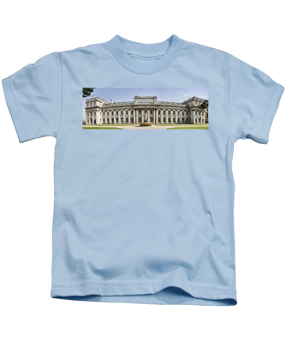 Royal Naval College Kids T-Shirt featuring the photograph Admirals House by Heather Applegate
