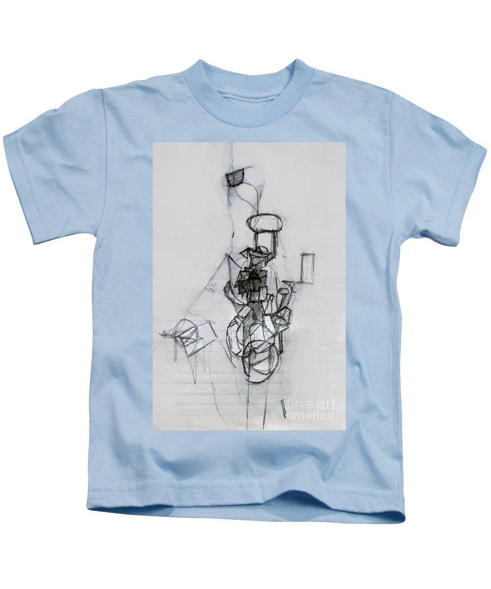 Torah Kids T-Shirt featuring the drawing Self-renewal 14 by David Baruch Wolk