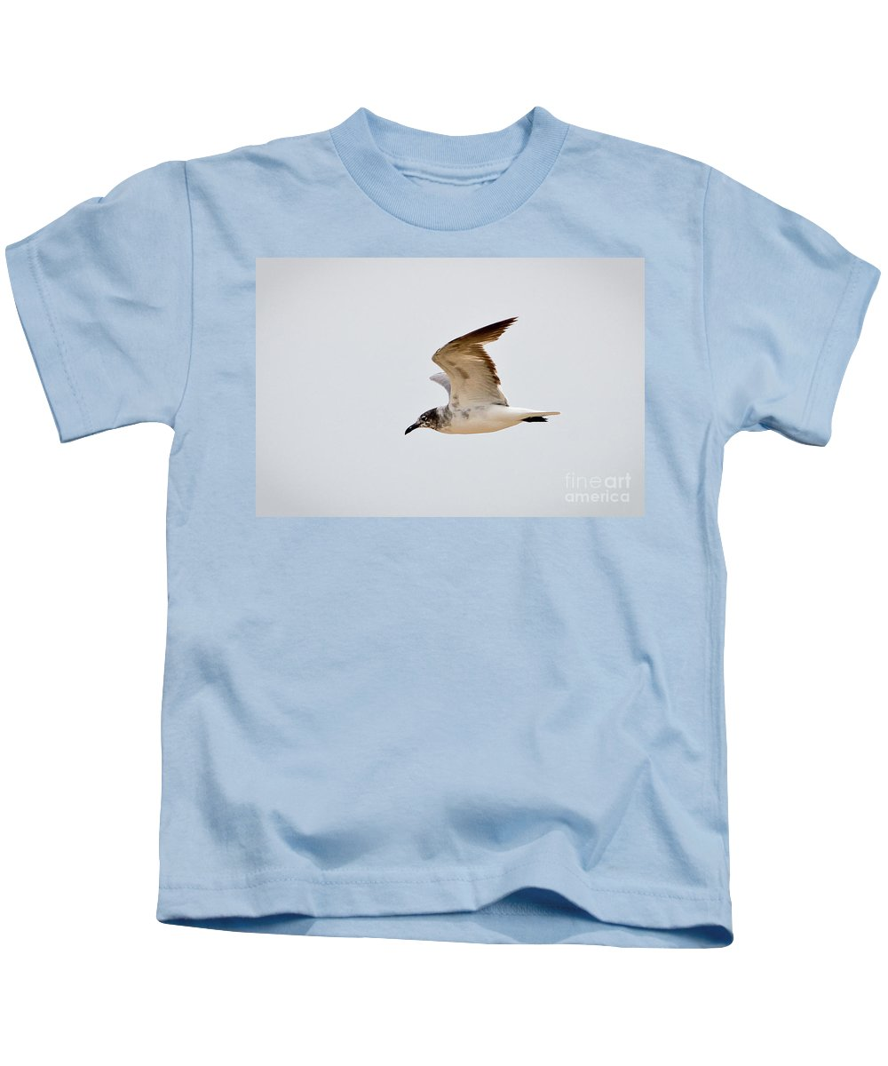 Seagull Kids T-Shirt featuring the photograph Alongside - Seagull by John Waclo
