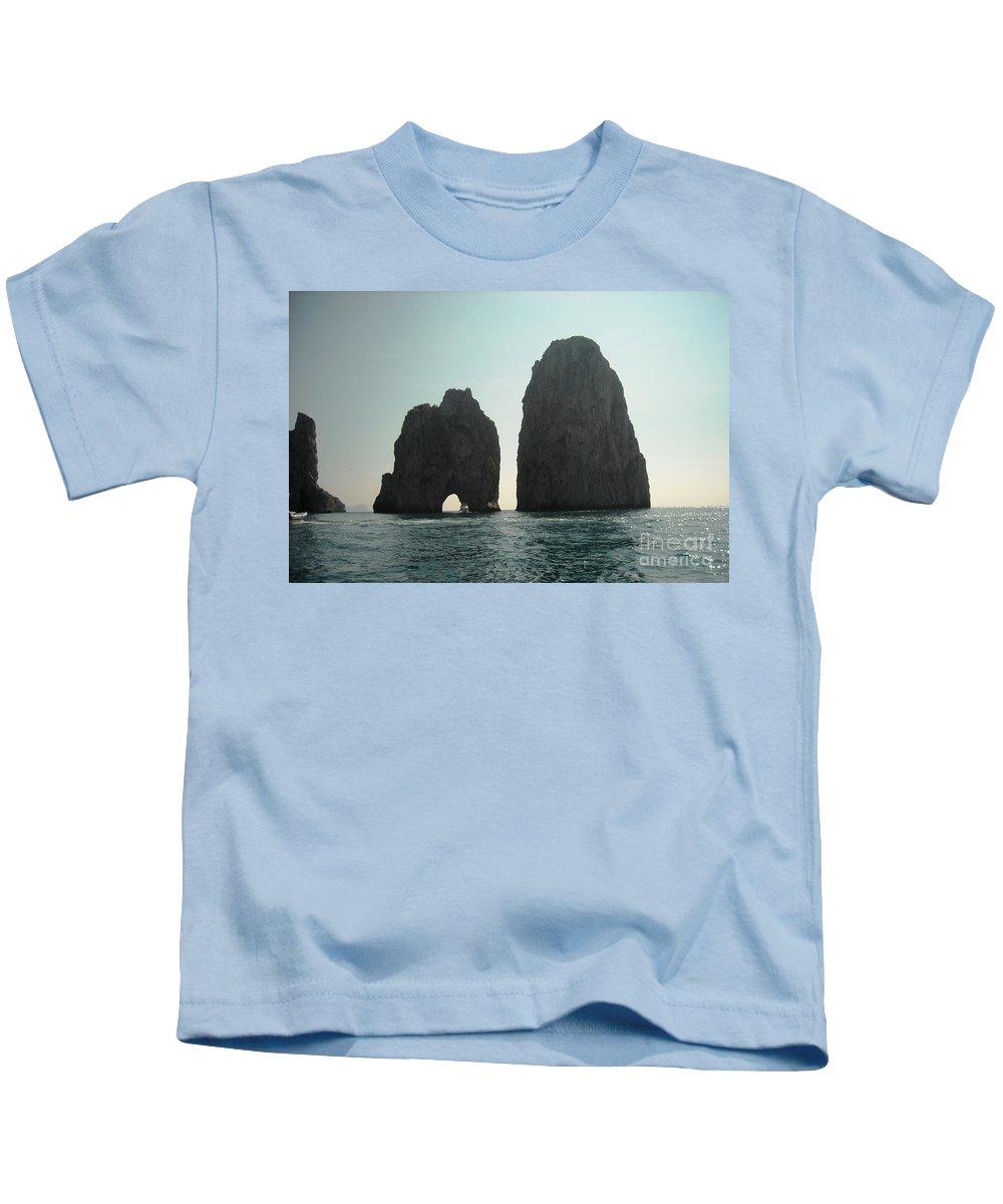 Amalfi Coast Kids T-Shirt featuring the photograph Amalfi Horizon by Lisa Kilby