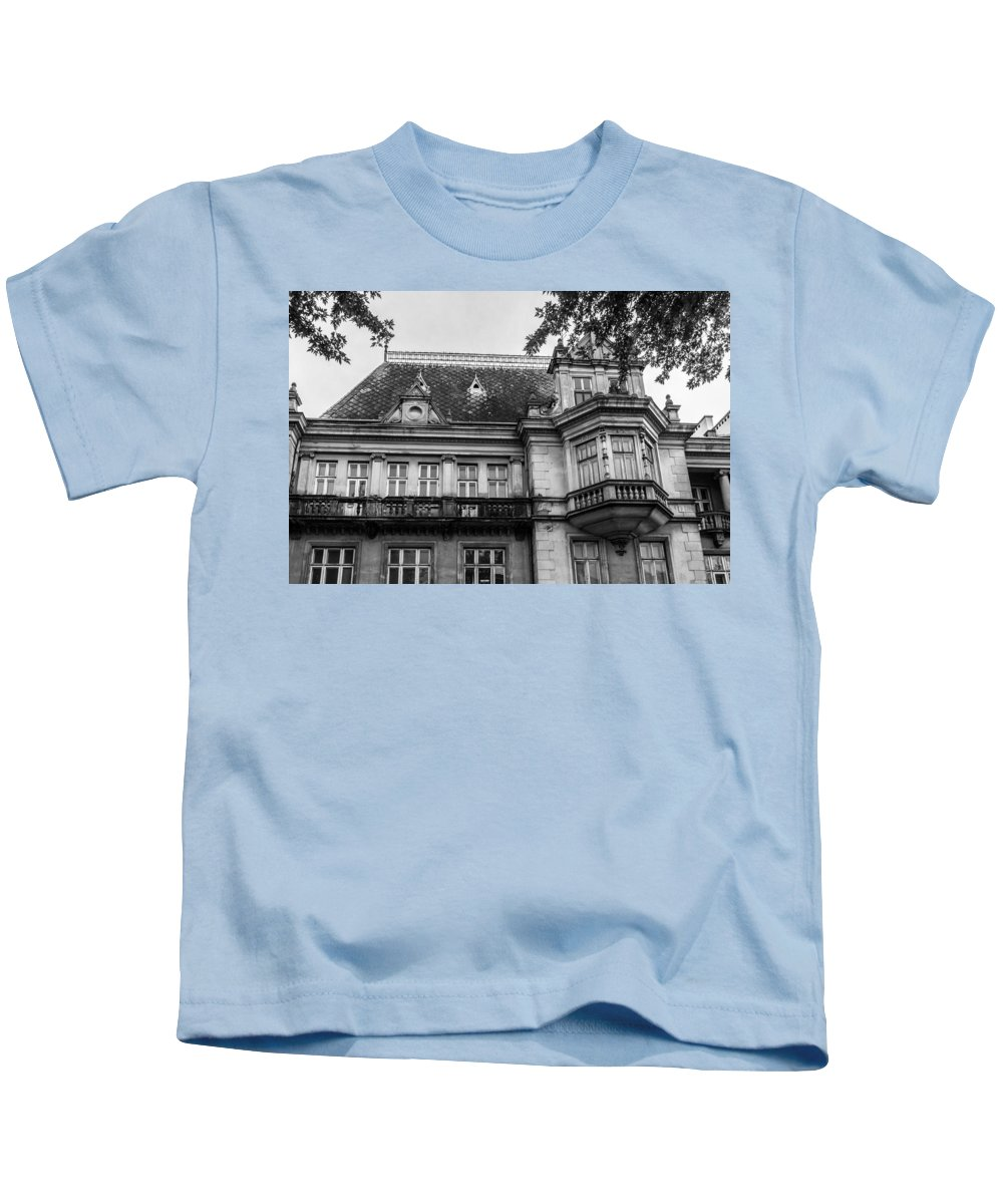 Old Polish Tenement Kids T-Shirt featuring the photograph An Old Polish Tenement by Tgchan