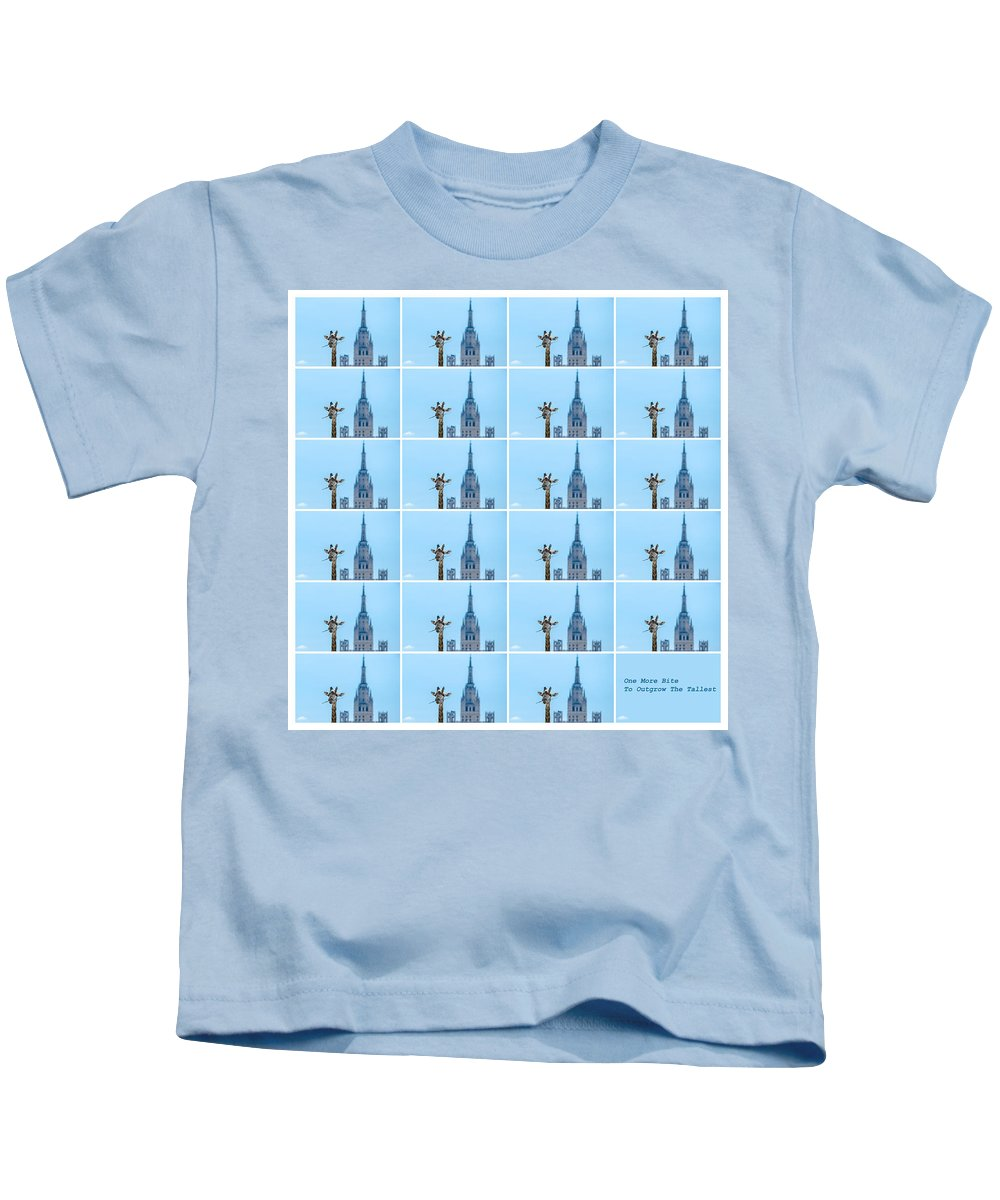 Abstract Kids T-Shirt featuring the photograph Another Bite To Outgrow The Tallest - Featured 3 by Alexander Senin