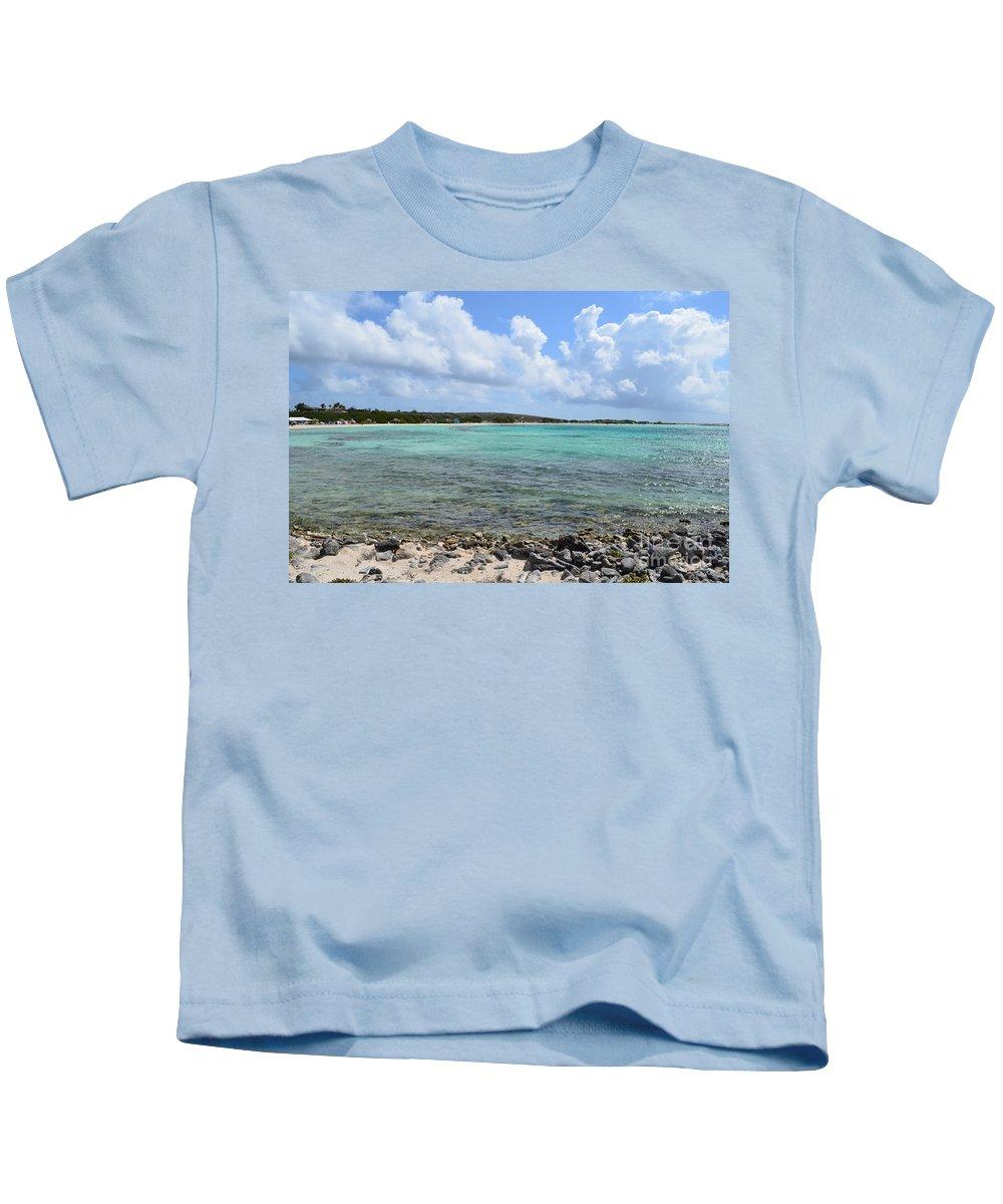 Baby Beach Kids T-Shirt featuring the photograph Araba Coastal Views by DejaVu Designs