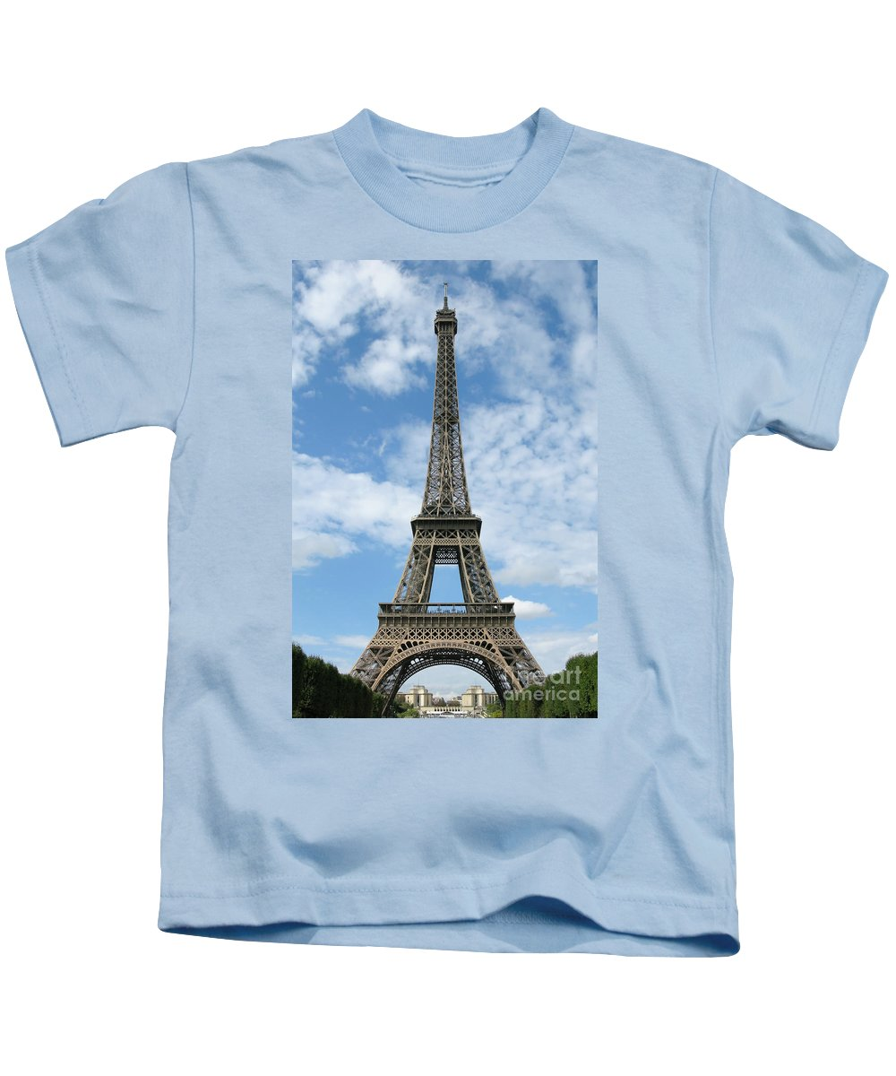 Paris Kids T-Shirt featuring the photograph Architectural Standout by Ann Horn