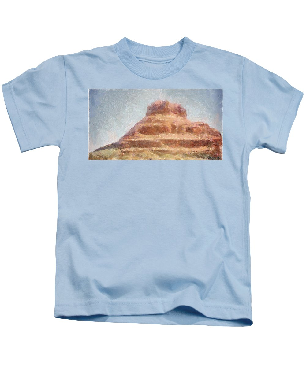 United States Of America Kids T-Shirt featuring the painting Arizona Mesa by Jeffrey Kolker