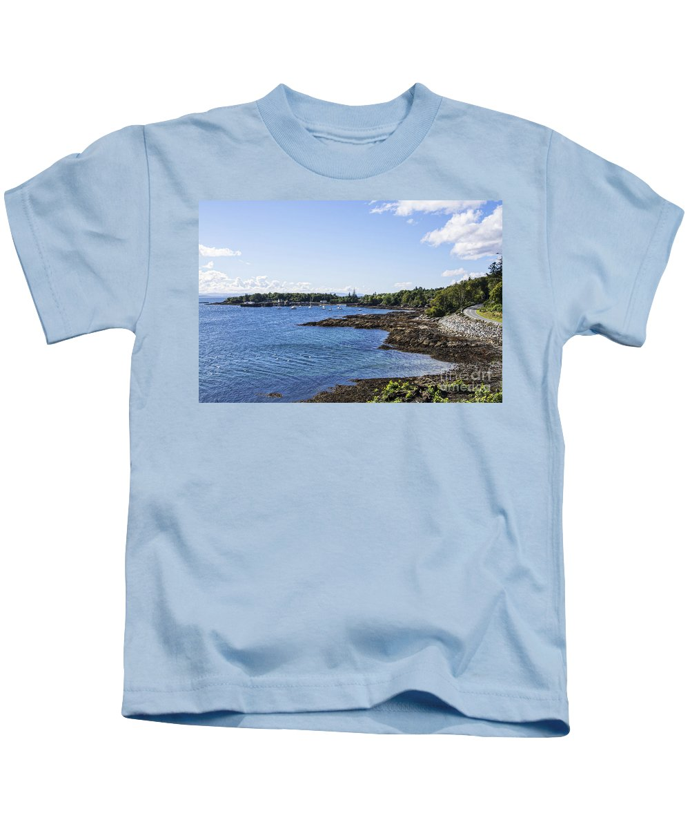 Scotland Canvas Kids T-Shirt featuring the photograph Armadale Isle Of Skye by Chris Thaxter