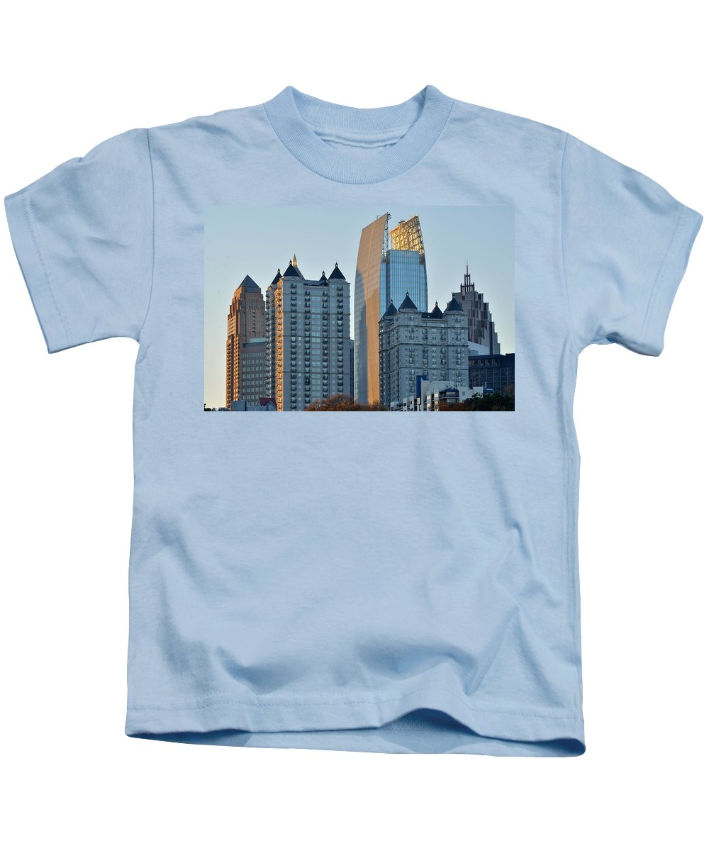 Atlanta Kids T-Shirt featuring the photograph Atlanta Towers by Frozen in Time Fine Art Photography