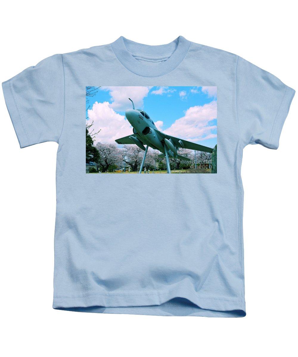 Atsugi Kids T-Shirt featuring the photograph Atsugi Prowler N by Jay Mann