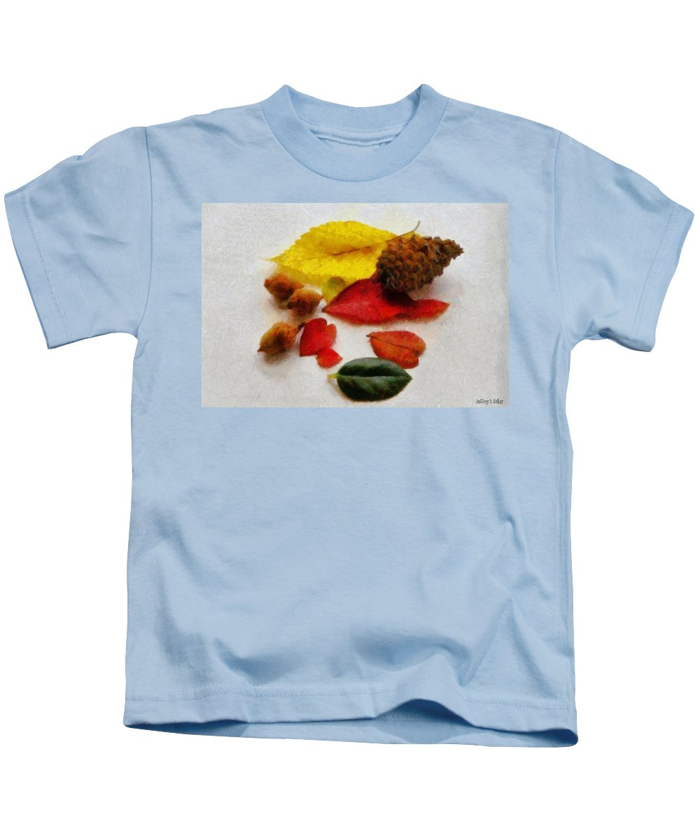 Acorn Kids T-Shirt featuring the painting Autumn Medley by Jeffrey Kolker