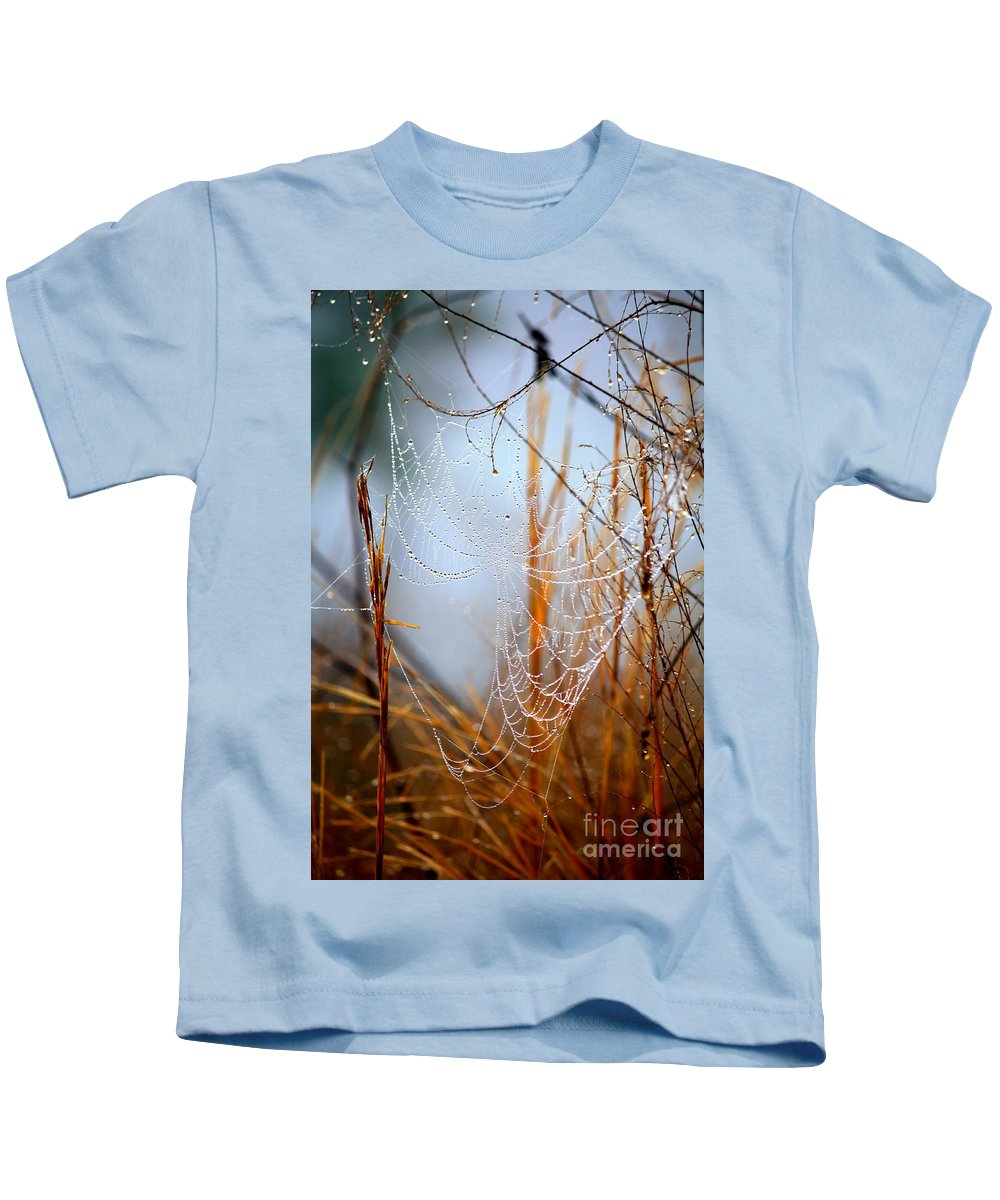 Nature Abstract Kids T-Shirt featuring the photograph Autumn Morning In The Marsh by Carol Groenen