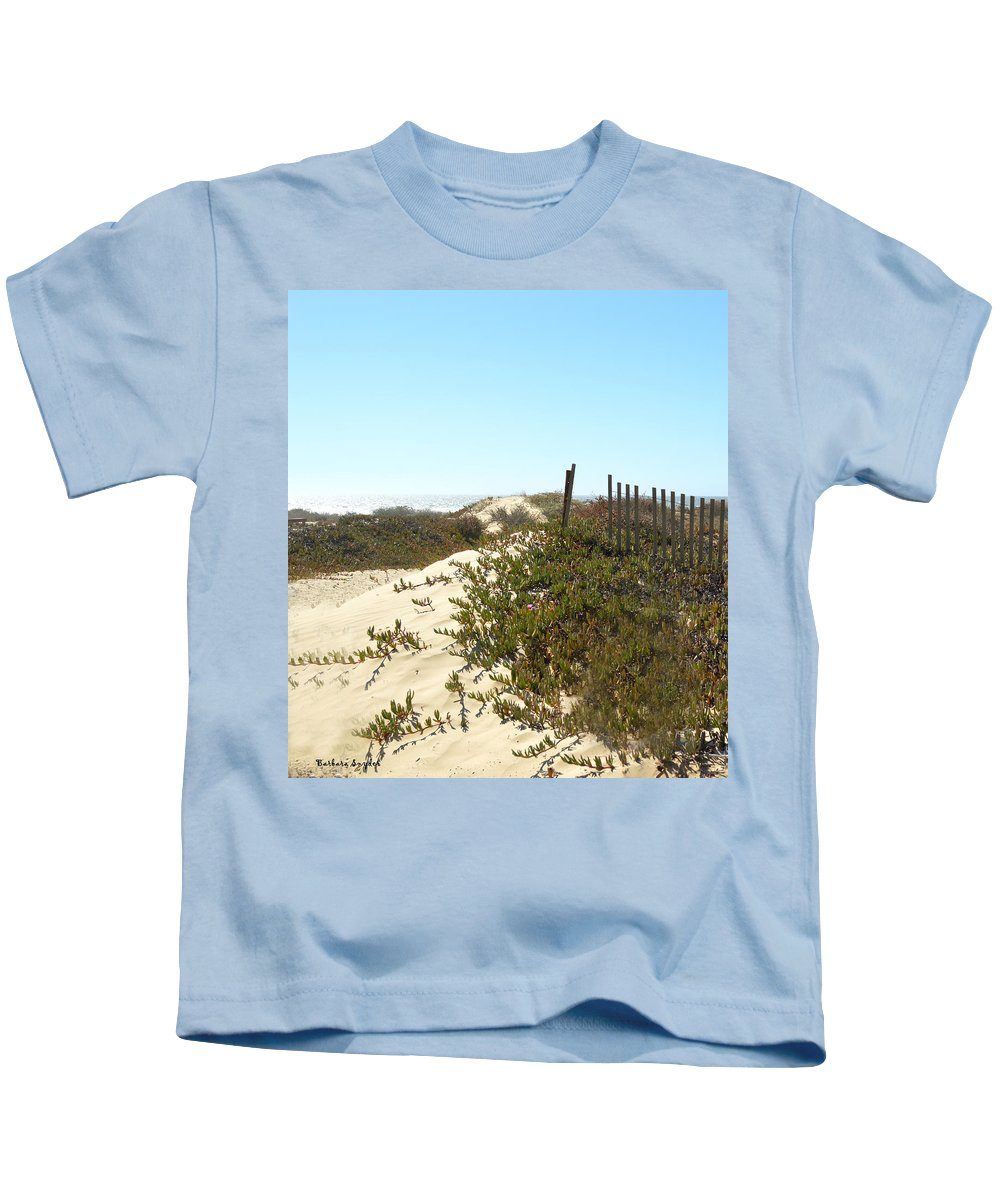 Barbara Snyder Kids T-Shirt featuring the digital art Beach Access by Barbara Snyder