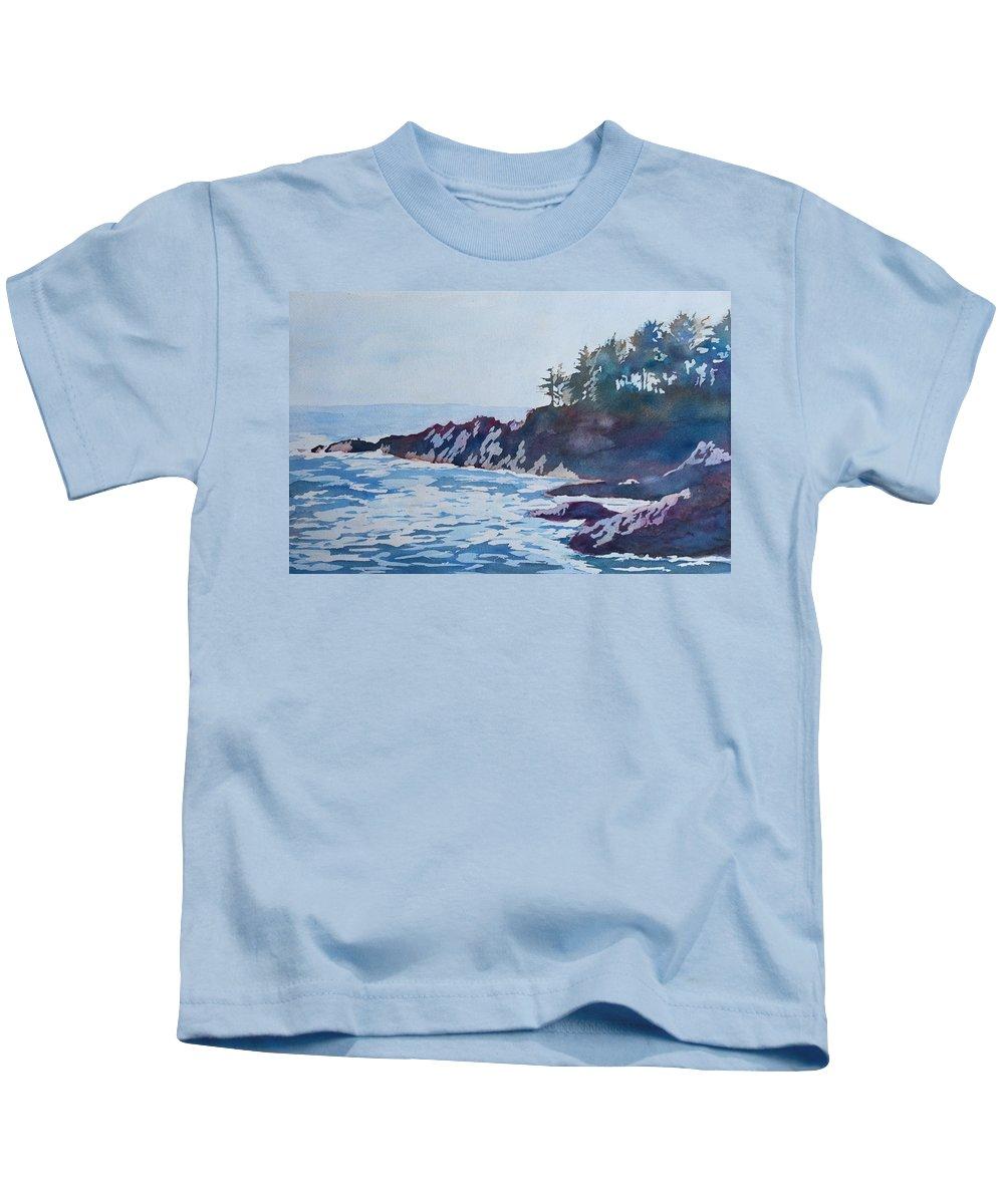 Beachhead Kids T-Shirt featuring the painting Beachhead by Jenny Armitage
