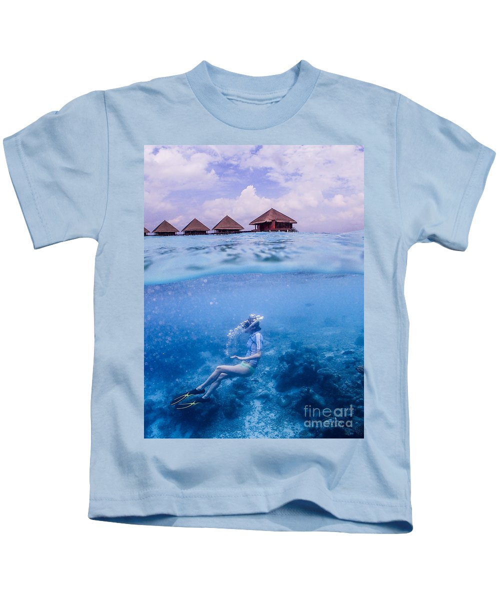 Rannalhi Kids T-Shirt featuring the photograph Beautiful Above And Below 2 by Hannes Cmarits