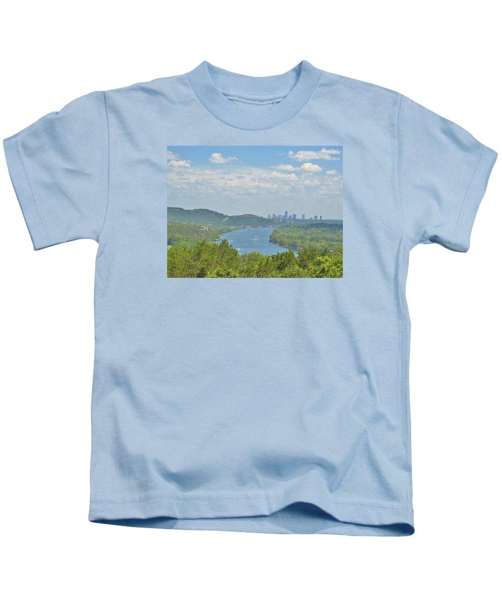 Austin Texas Kids T-Shirt featuring the photograph Beautiful Austin Texas by Donna Wilson