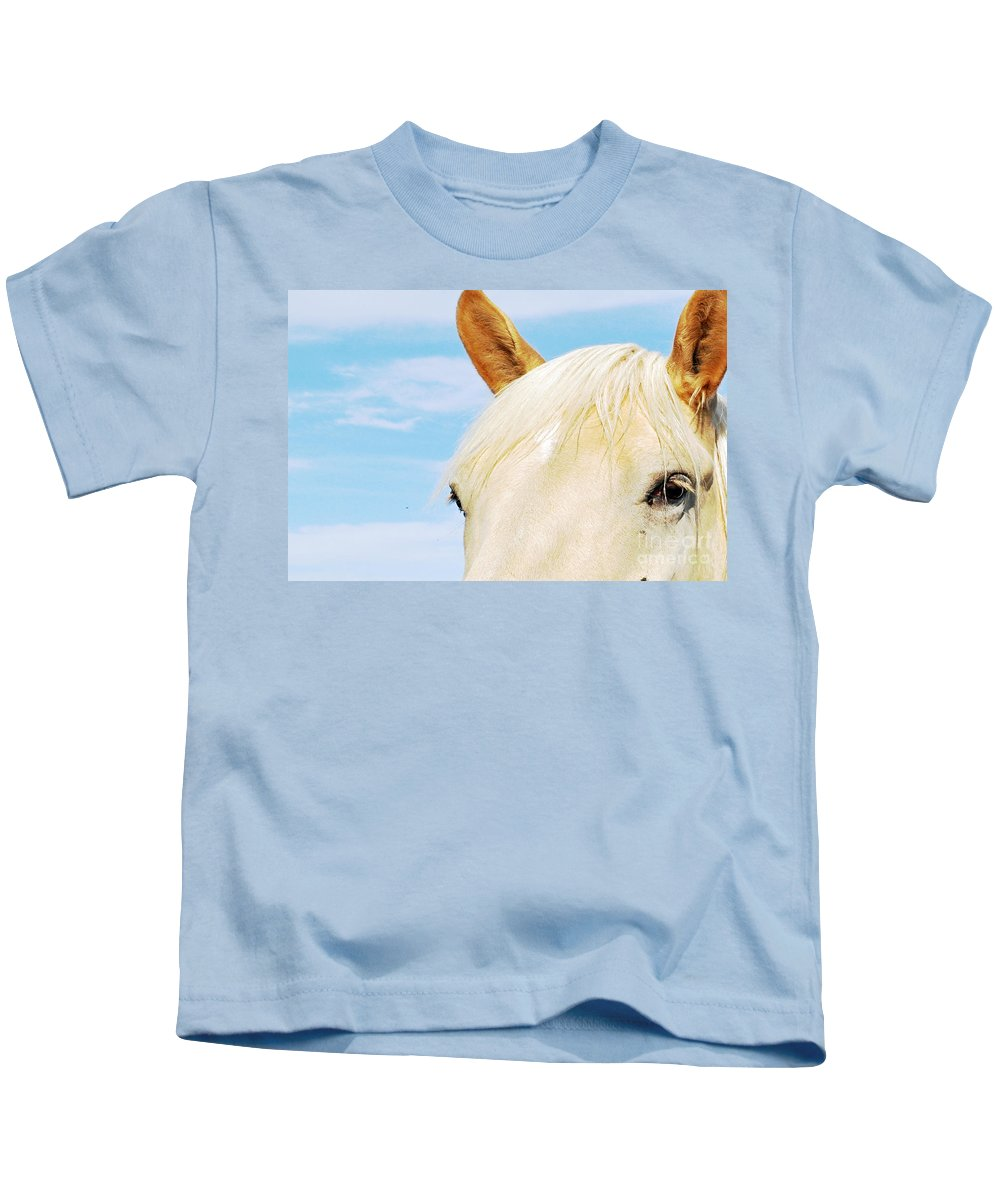 Horse Kids T-Shirt featuring the photograph Beauty by Molly McPherson