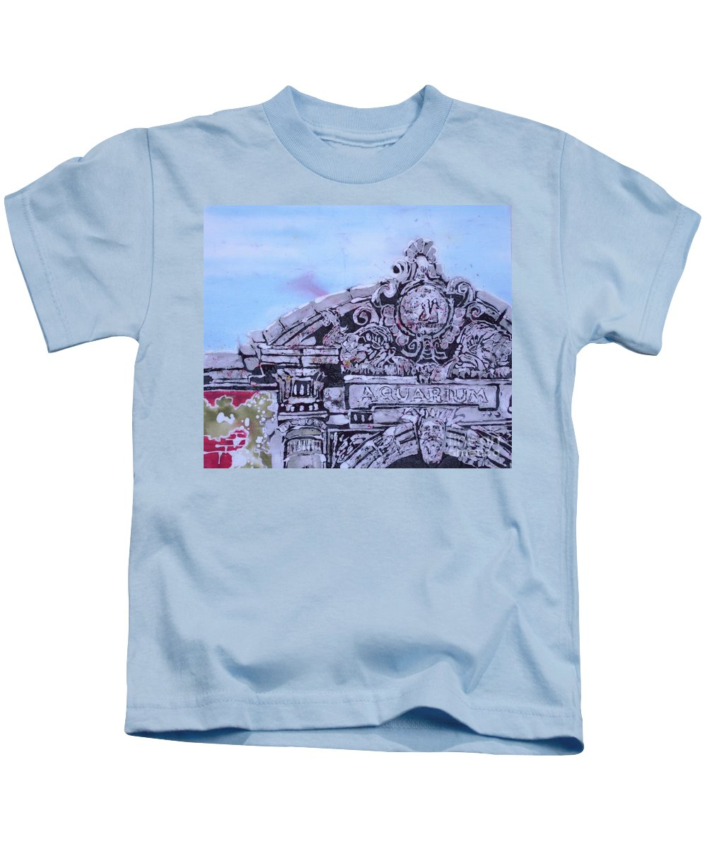Belle Isle Kids T-Shirt featuring the tapestry - textile Belle Isle Aquarium by Kate Ford