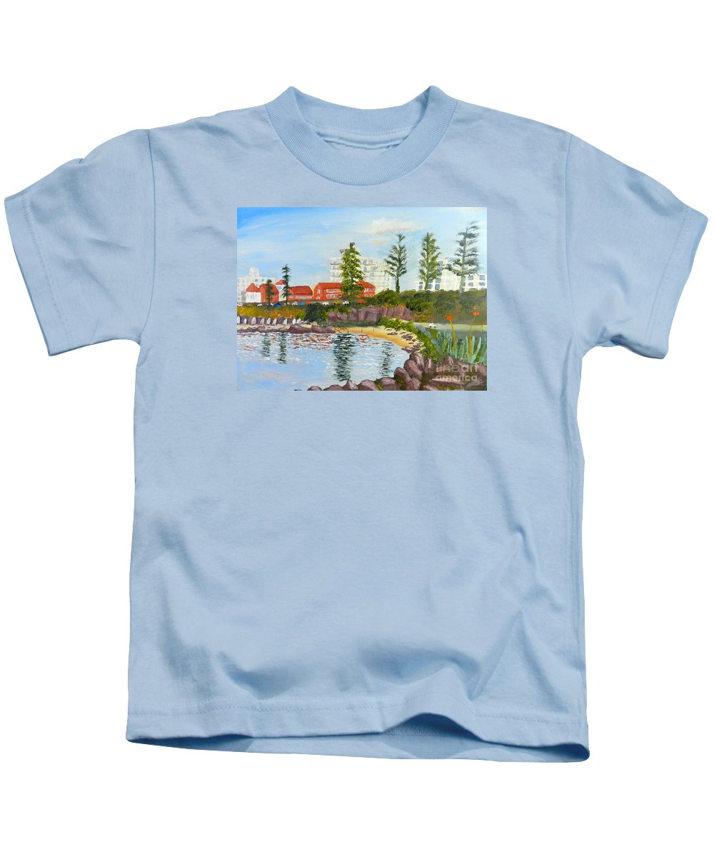 Impressionism Kids T-Shirt featuring the painting Belmore Basin From The North Sea Wall by Pamela Meredith