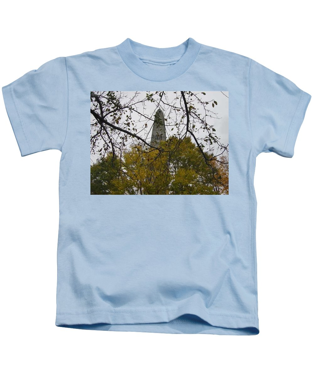 Kids T-Shirt featuring the photograph Bennington Monument In Vermont by Brian S Boucher