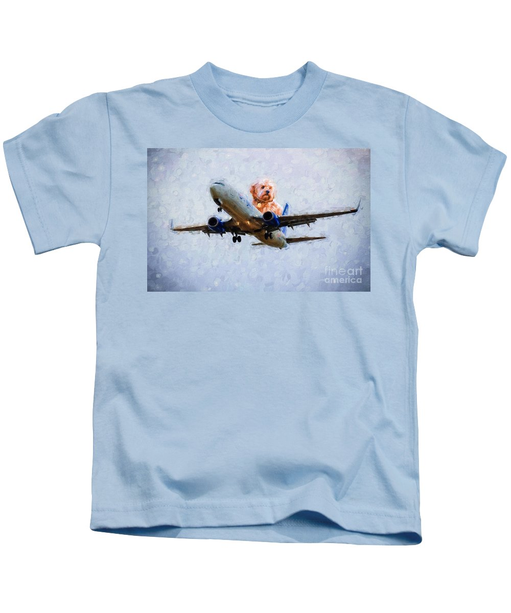 Airline Kids T-Shirt featuring the photograph Bird's Point Of View by Les Palenik