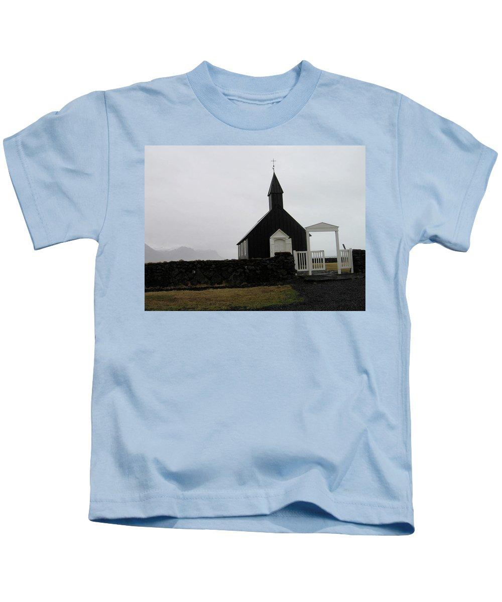 Church Kids T-Shirt featuring the photograph Black Church by Kimberly Maxwell Grantier