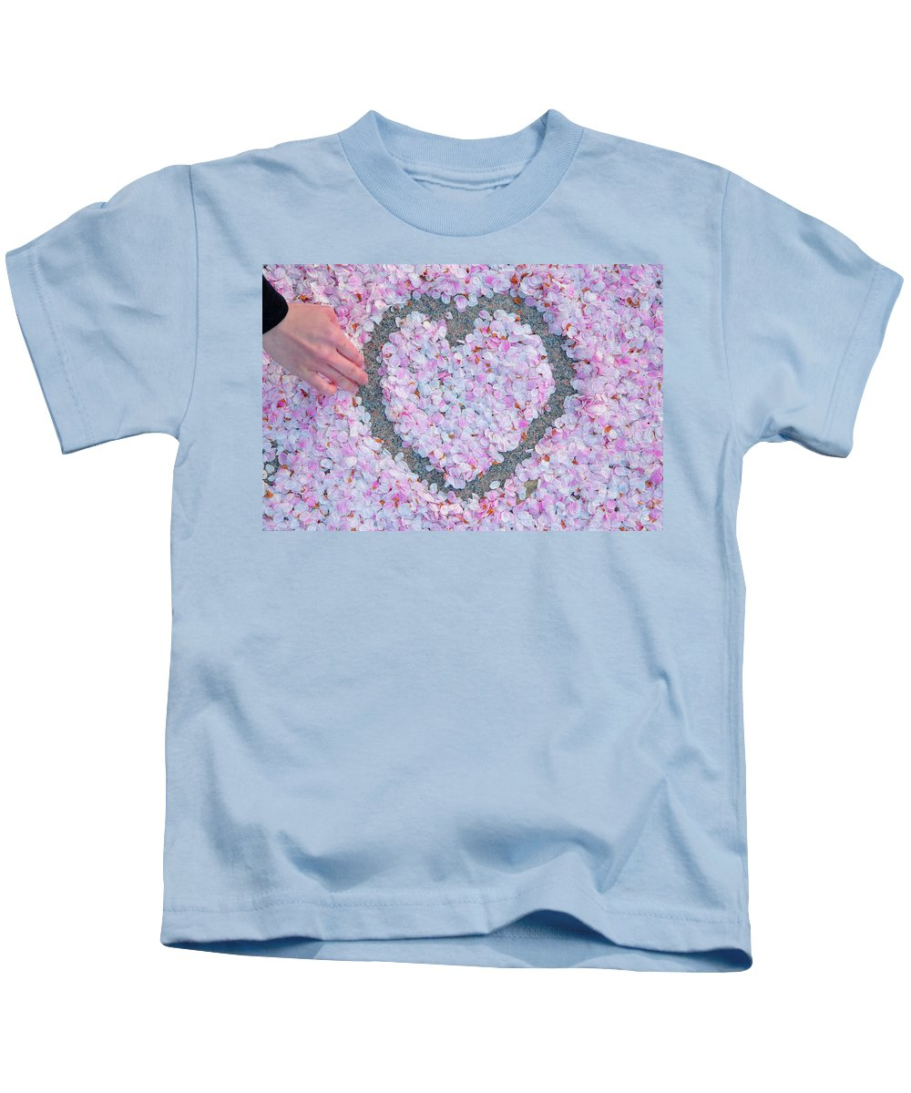 Architectural Kids T-Shirt featuring the photograph Blossoms Of Love - Cherry Blossoms 2013 - 071 by Metro DC Photography
